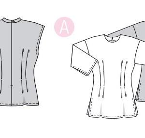 Выкройка Burda  6325 — Топ, рубашка