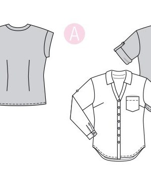 Выкройка Burda №6326 — Блуза с планкой