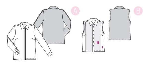 Выкройка Burda №6327 — Блузка