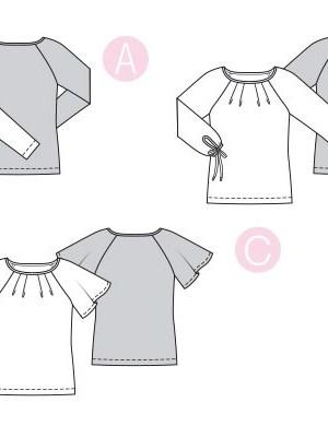 Выкройка Burda  6329 — Блузка, футболка