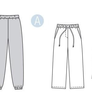 Выкройка Burda №6333 — Спортивные брюки