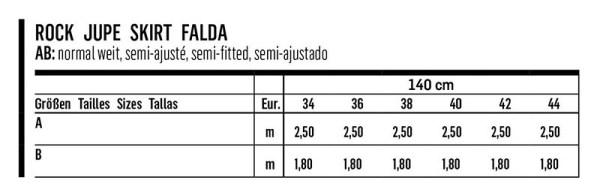 Выкройка Burda №6341 — Юбка со встречными складками
