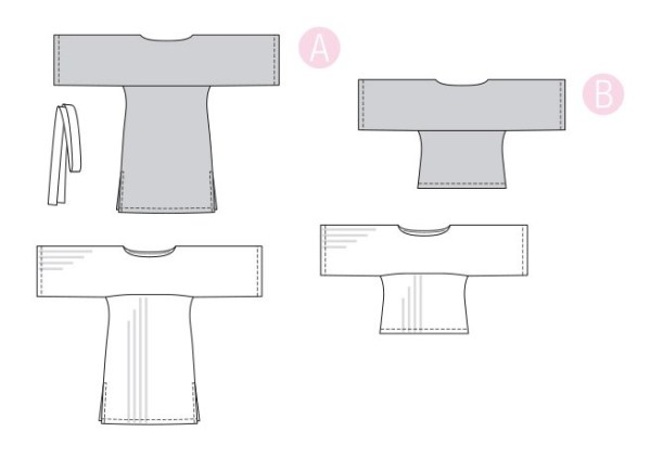 Выкройка Burda  6345 — Платье-туника, блузка