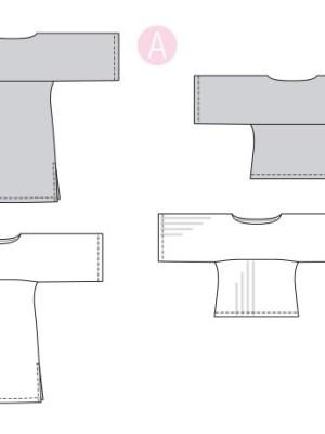 Выкройка Burda №6345 — Платье-туника, блузка