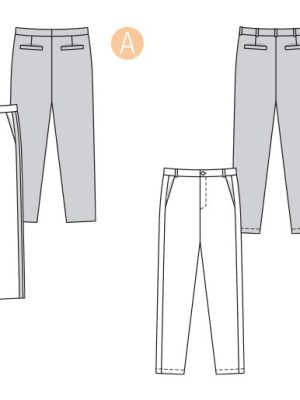 Выкройка Burda №6350 — Мужские брюки