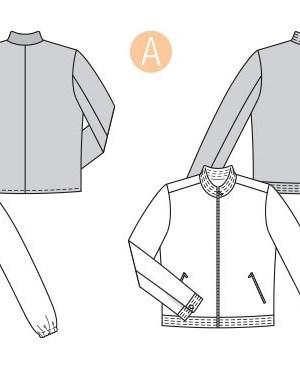 Выкройка Burda  6351 — Мужская куртка