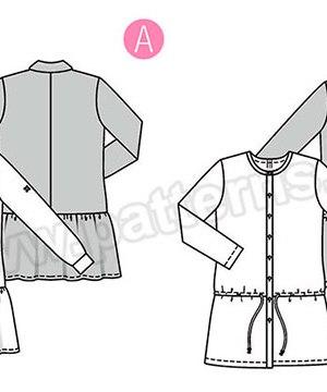 Выкройка Burda №6353 — Платье с заниженной талией