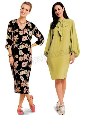 Выкройка Burda №6363 — Платье