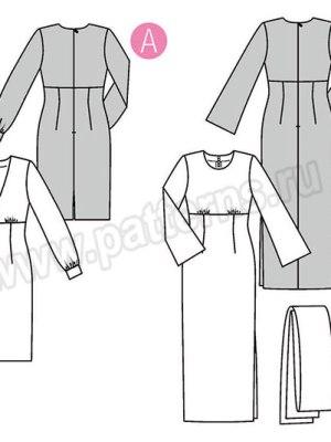Выкройка Burda №6365 — Платье с завышенной талией