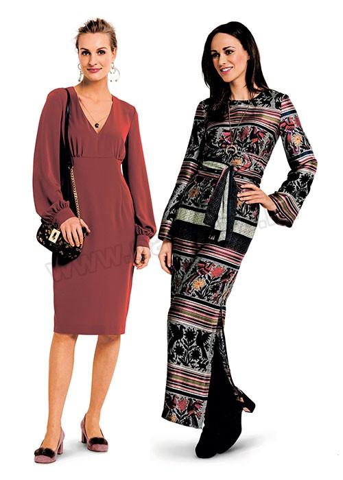 Выкройка Burda  6365 — Платье с завышенной талией