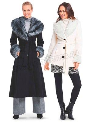 Выкройка Burda №6387 — Пальто