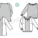 Выкройка Burda  6392 — Блузка, туника