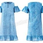 Выкройка Burda №6402 — Платье с открытыми плечами
