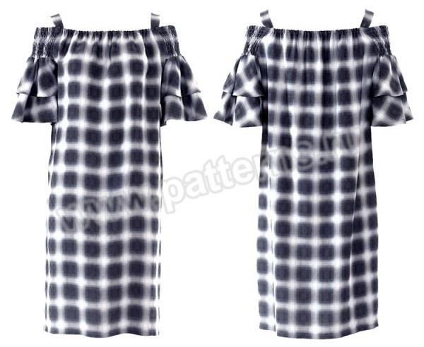 Выкройка Burda №6422 — Платье с открытыми плечами