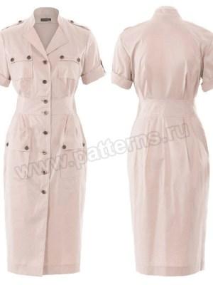 Выкройка Burda №6440 — Платье-сафари