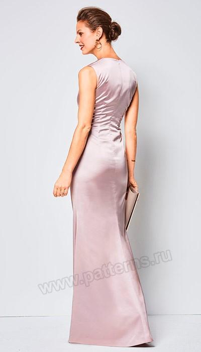 Выкройка Burda №6442 — Вечернее платье с драпировкой