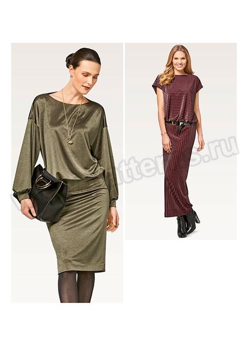 Выкройка Burda №6453 — Платье