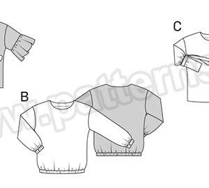 Выкройка Burda №6458 — Блузка