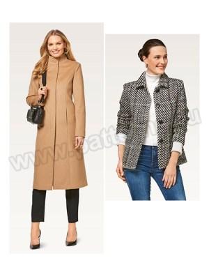 Выкройка Burda №6461 — Пальто, Жакет-куртка