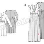 Выкройка Burda №6473 — Платье