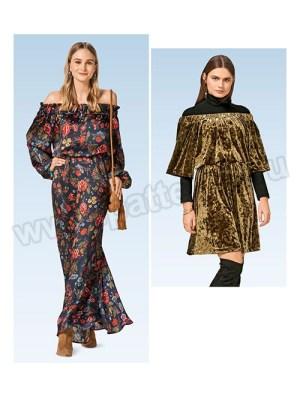 Выкройка Burda №6474 — Платье