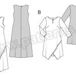 Выкройка Burda №6498 — Платье