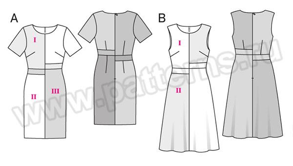 Выкройка Burda №6499 — Платье