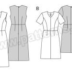 Выкройка Burda №6511 — Платье