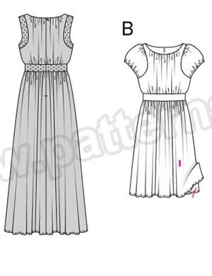 Выкройка Burda №6518 — Платье