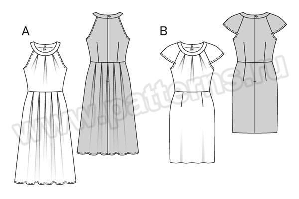 Выкройка Burda №6521 — Платье