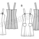 Выкройка Burda №6538 — Платье-Сарафан