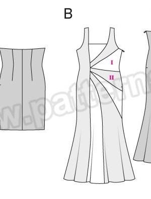 Выкройка Burda №6547 — Вечернее платье