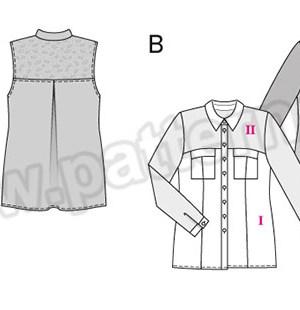Выкройка Burda №6551 — Блуза