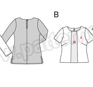 Выкройка Burda №6552 — Блуза