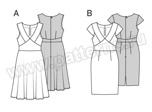 Выкройка Burda №6554 — Платье
