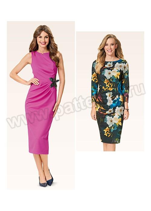 Выкройка Burda №6563 — Платье с драпировкой