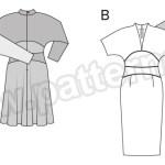 Выкройка Burda №6564 — Платье