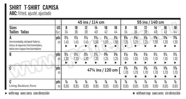 Выкройка Burda №6567 — Блуза, Топ, Пуловер с баской