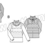 Выкройка Burda №6568 — Блуза