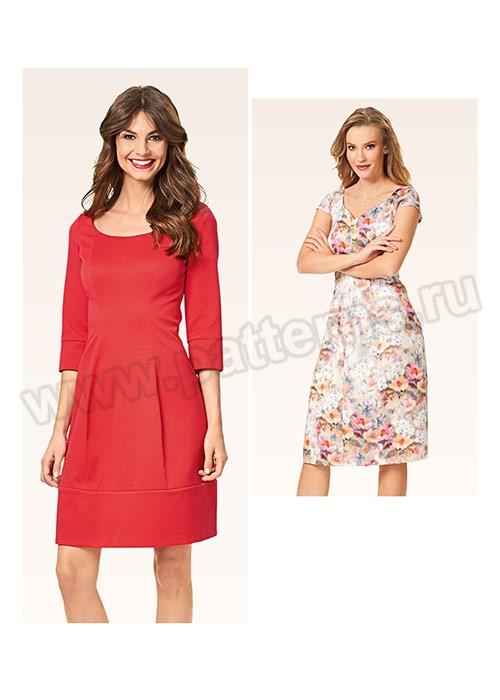Выкройка Burda №6577 — Платье