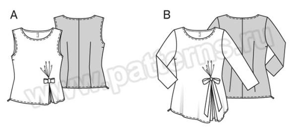 Выкройка Burda №6580 — Блуза, Топ