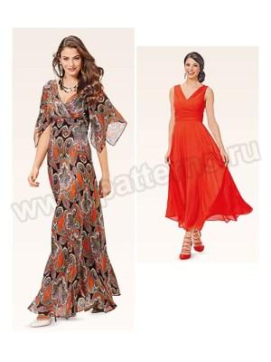 Выкройка Burda №6583 — Нарядное платье