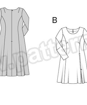 Выкройка Burda №6621 — Платье