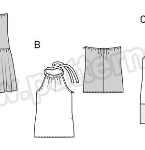 Выкройка Burda №6655 — Летнее платье, Топ