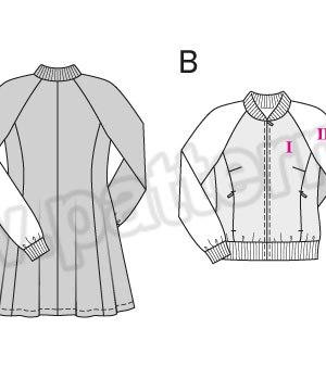 Выкройка Burda №6660 — Пальто, Спортивная куртка