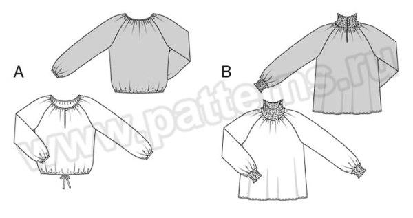 Выкройка Burda №6697 — Блуза