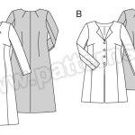 Выкройка Burda №6715 — Пальто