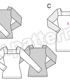 Выкройка Burda №6722 — Пуловер, Платье