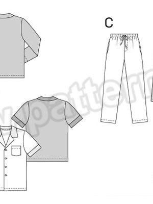 Выкройка Burda №6741 — Мужская пижама