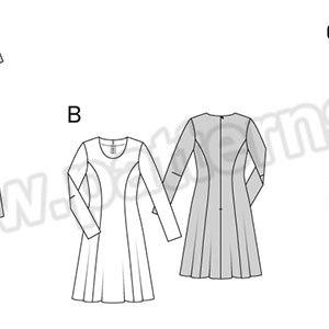 Выкройка Burda  6821 — Платье